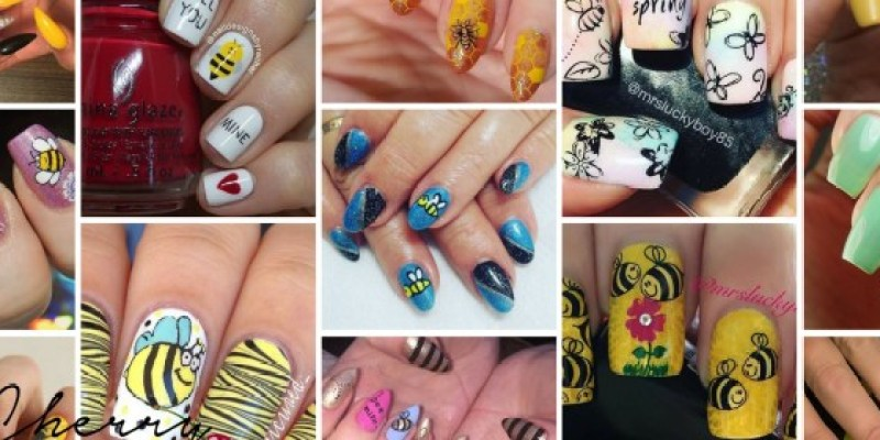 21 Bee Nail Art Designs