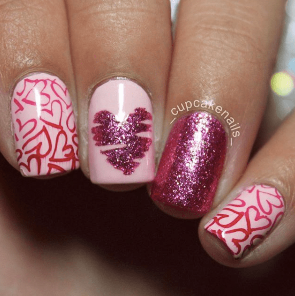 Nails for Valentines Day 10