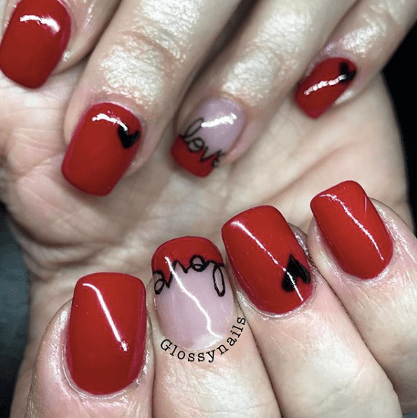 Nails for Valentines Day 25