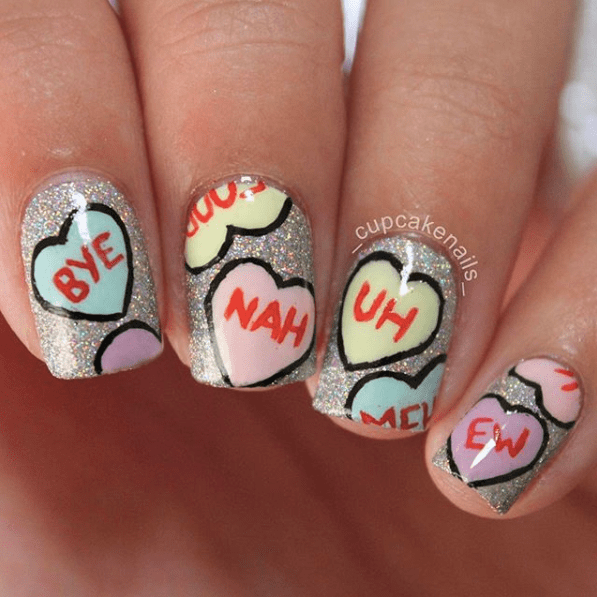 Nails for Valentines Day 27