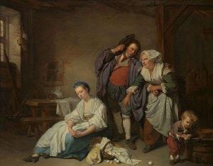 'Broken Eggs' by Jean-Baptiste Greuze