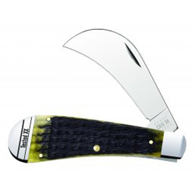 Olive Green Bone - Russell Jig Hawkbill Pruner 61011 SS