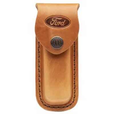Sheath Leather Medium Brown Embossed Ford