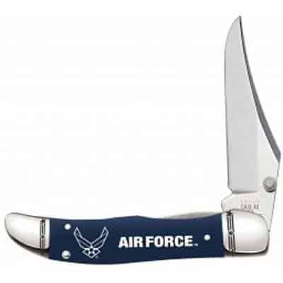 U.S. Air Force Embellished Smooth Navy Blue Synthetic Kickstart Mid-Folding Hunter Pocket Clip SS