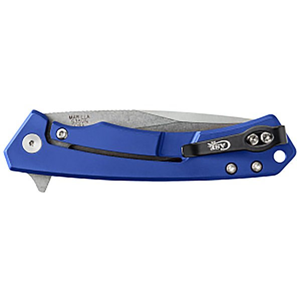 Marilla EDC- Blue Anodized Aluminum W/ Black G-10 Inlay