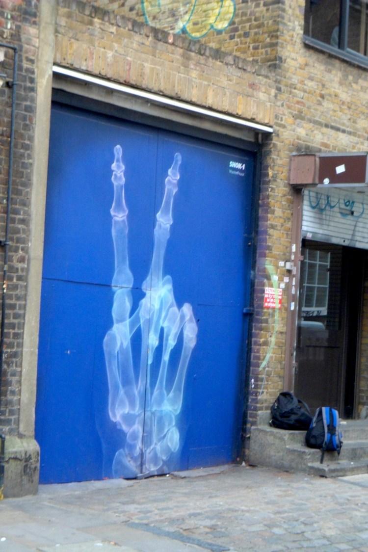 Peace Graffitie Street Art Brick Lane London