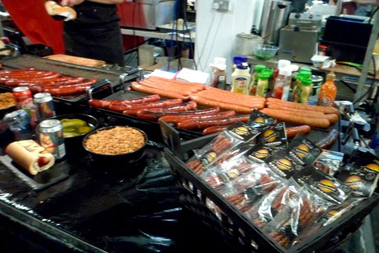 Sausage selection Brick Lane london Foodie