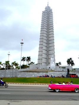 The José Martí Memorial and museum, Havana's tallest building. There were events taking place outside at the time, by school children from local Havana schools - following street processions.