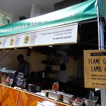 Southbank London River Thames Korean Food DSCN7801