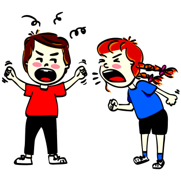 —Pngtree—children arguing anger and insult_5379159.png free image