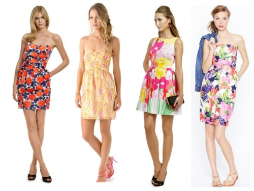 colorful summer wedding guest dresses