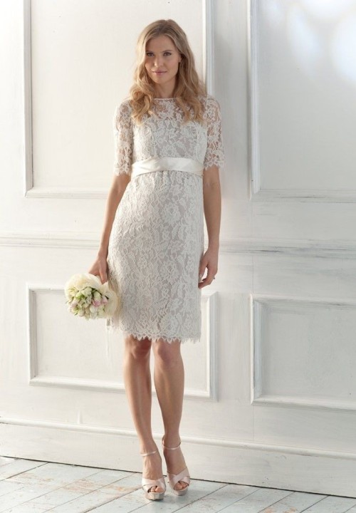 vintage lace short wedding dresses