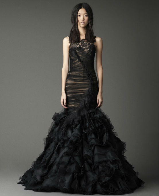 black lace mermaid wedding dress vera wang