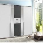 11% sparen – Kleiderschrank VANEA weiß/Absetzung graphit 225 cm – nur 299,99€