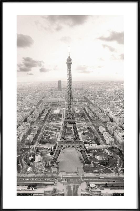 Eiffelturm Poster Kunststoffrahmen