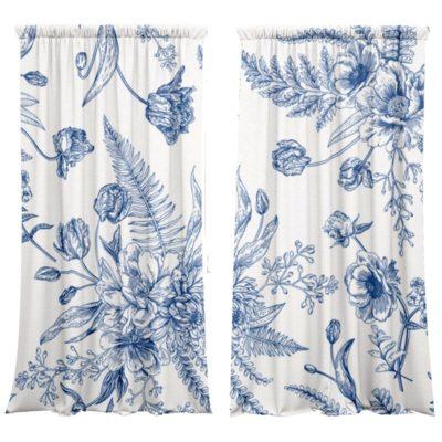 Vorhang-Set FLOWERS