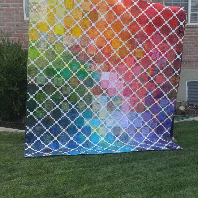 My graduating color Quilt for uvqg challenge I am sohellip