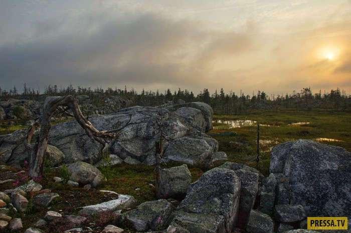 Загадочная гора в карельской глуши (24 фото)