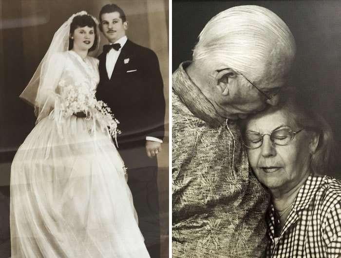 25 фотографий влюбленных пар -тогда и сейчас--25 фото-