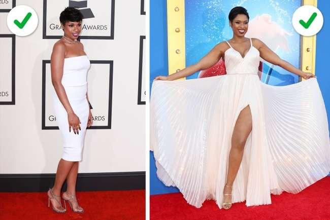 Существуют 4типа фигуры, идля каждого изних мыподобрали идеальное платье