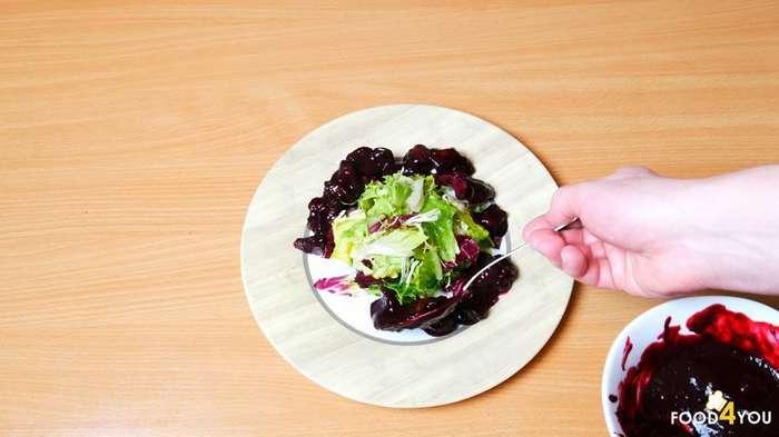 Салат с куриной печенью-14 фото-