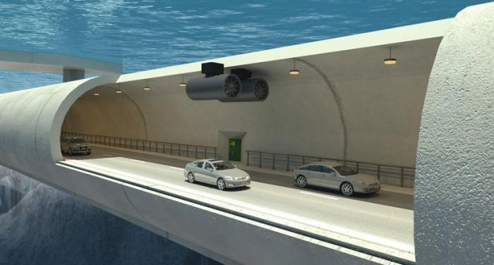 Норвегия стоит невероятную автомагистраль-трубопровод, которая пройдет под водой -3 фото + видео-