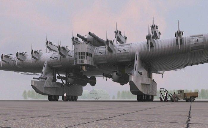Многообещающий проект СССР -летающая крепость-
