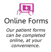 online forms icon box in pink