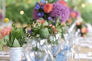 allium, purple, flowers, wedding breakfast