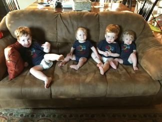 Two sets of twin grandsons! (left to right—Isaiah, Samuel, James, Silas)