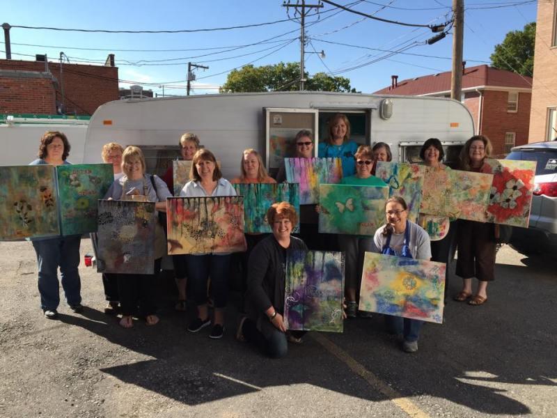 Teaching at Imaging That Scrapbooking in Nebraska