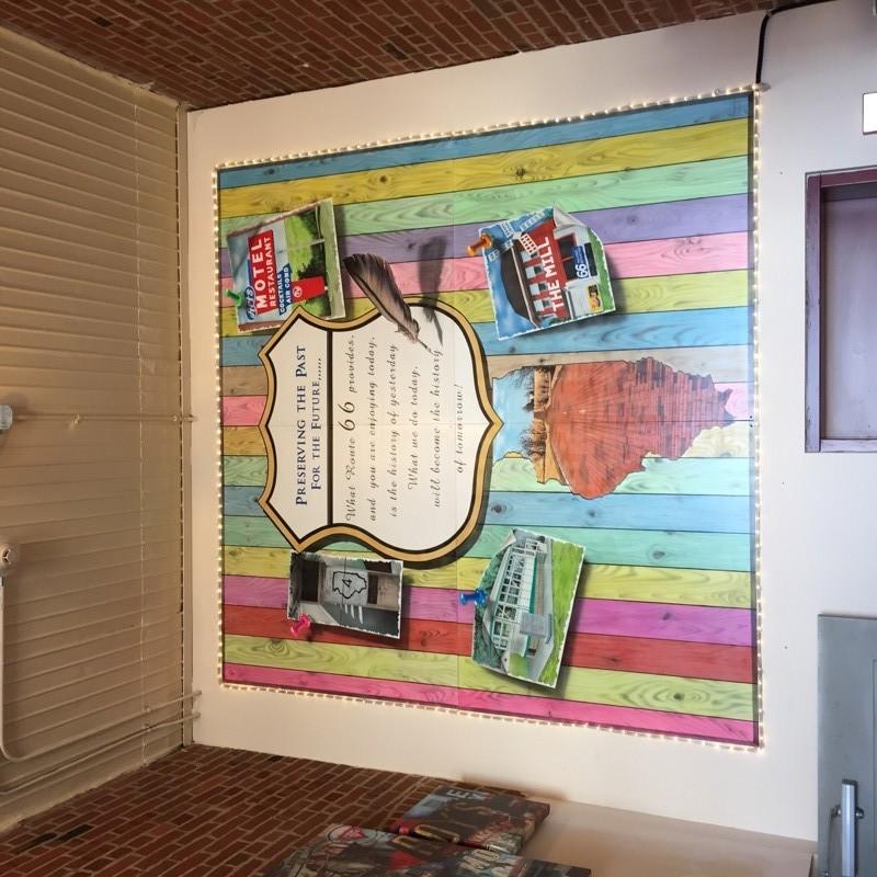 Route 66 Airbrush Mural