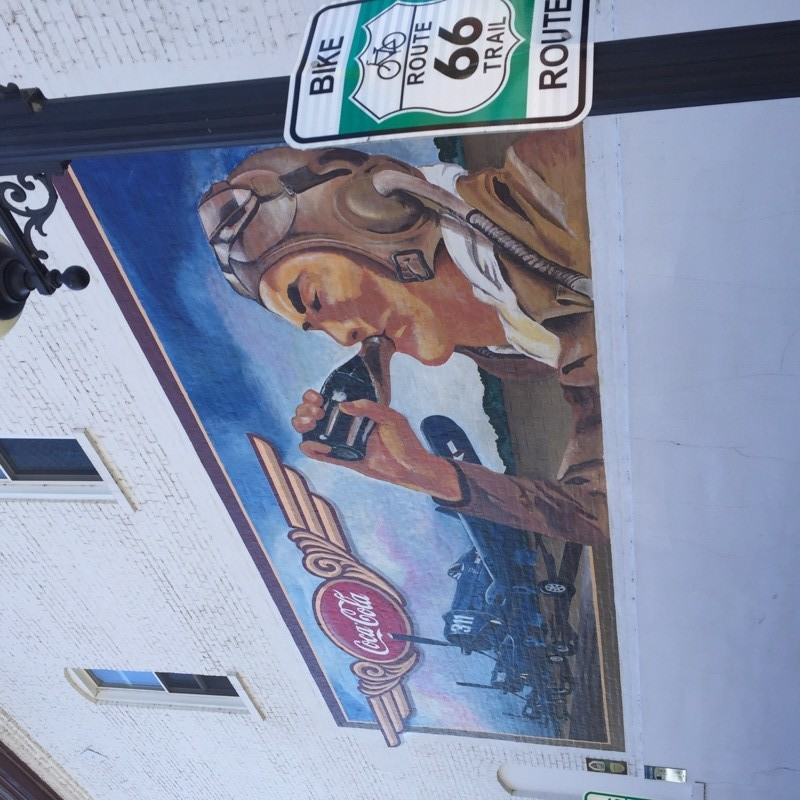 Route 66 CocaCola Mural