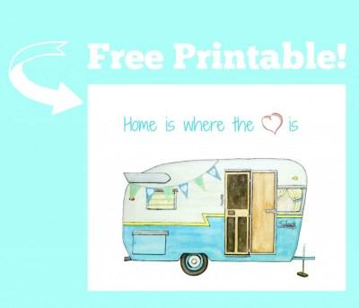 free retro camper printable