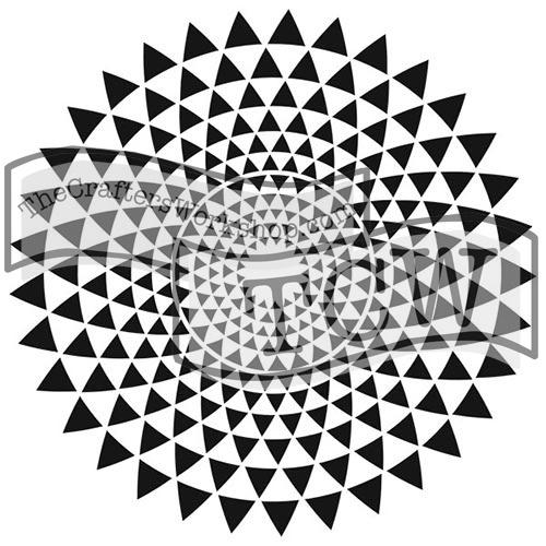 TC559 Triangle Sunburst