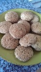 gluten free and lactose free sesame biscuit