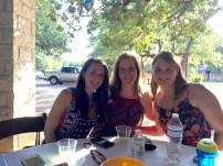 Sarah, Kristen and Tina hanging out.