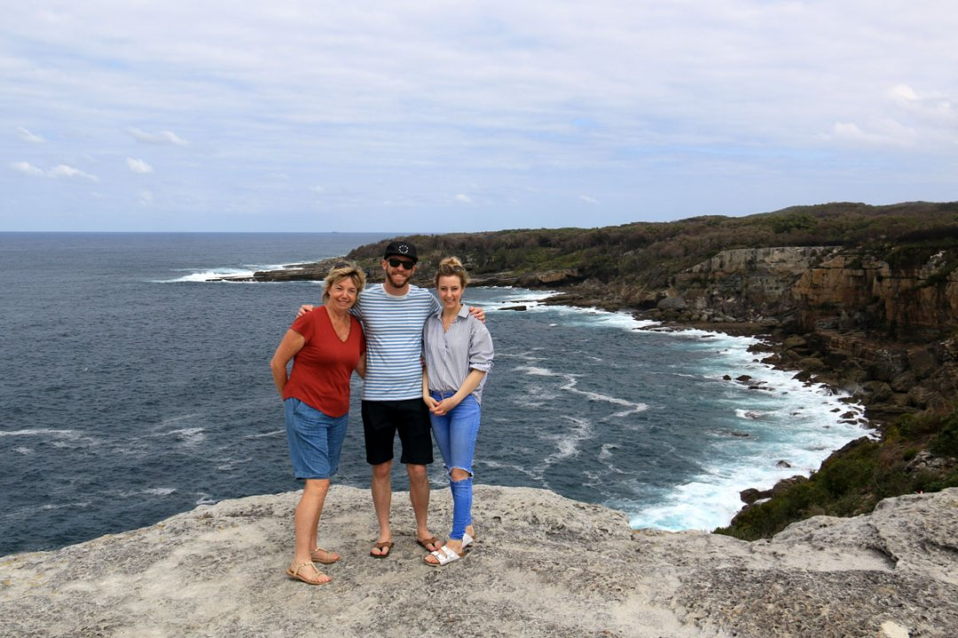 Devan and Shanley on cliffs at Booderee National Park, Jervis Bay