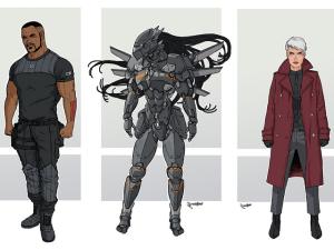 Concept art for Wildstorm characters