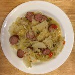 cabbage and polish sausage/