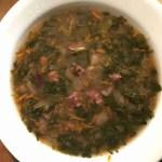 Beans, Ham, & Spinach Soup