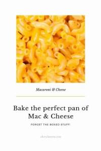 macaroni and cheese dish