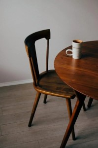 Table and a chair