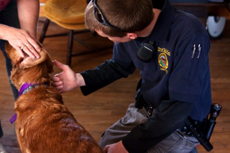 In response to calls, usually from concerned neighbors, Garth visits pet owners for wellness checks. He visually checks the animal for any signs of injury or illness and verifies with the owners (and frequently their veterinarian) that the animal is receiving treatment and up to date on all required shots and vaccinations.