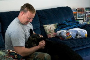 When not on duty, Baron is just like any family pet. The 6-year-old German Shepherd lives with Kevin and his wife and two sons on a family farm in Windham.