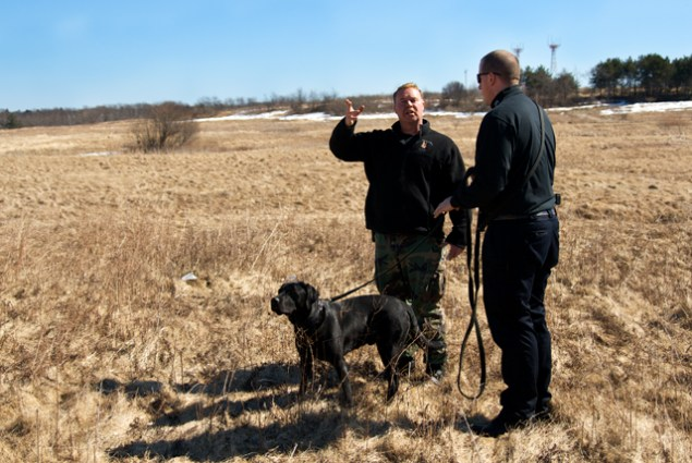 As a State Certified K-9 Trainer, Kevin devotes hundreds of hours a year to teaching and mentoring new K-9 handlers like Officer Kevin Gerrish. Since October 2008, Kevin has logged a total of 320 training hours with Officer Gerrish and K-9 Jerry, a 2-year-old Black Lab, in Explosives Detection.
