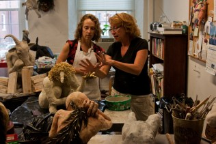 For the past year, Meryl's studio, Porcelain Grace, was located in the North Dam Mill in Biddeford, Maine. During that time, she became friends with fellow ceramic artist Cheryl Lichwell. With Cheryl's studio, Out of the Ark, located just down the hall, the two artists frequently visited with each other.