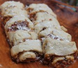Yummy apricot, honey and pecan rugelach with a hint of lemon