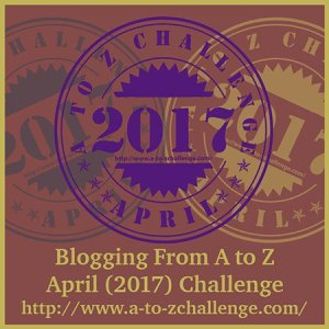 #AtoZChallenge is a blogging challenge that takes place in the month of April.