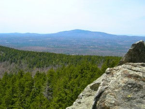 Mt Monadnock as seen from North Pack Monadnock April 22, 2011
